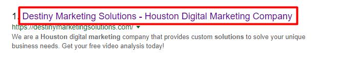 katy on page seo destiny marketing solutions