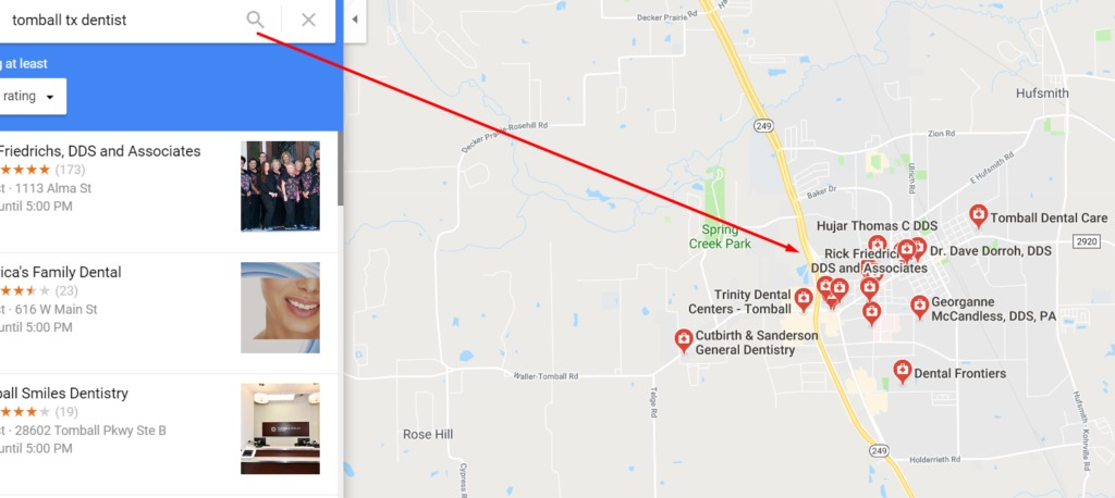 google maps tomball tx local seo destiny marketing solutions