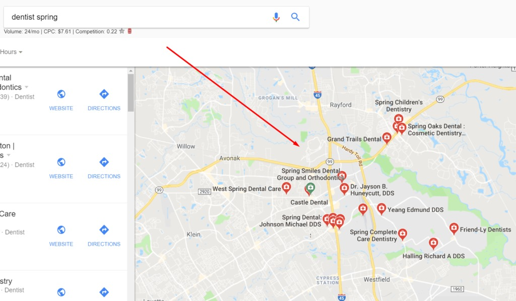 spring tx google maps local seo destiny marketing solutions