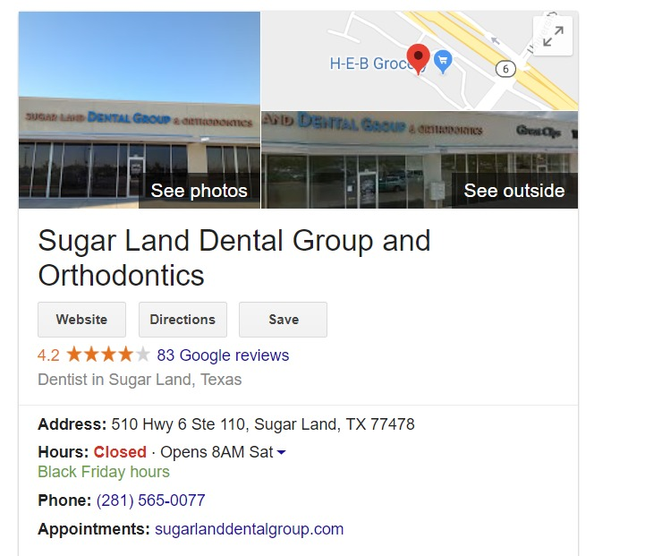 sugar land tx seo google mybusines