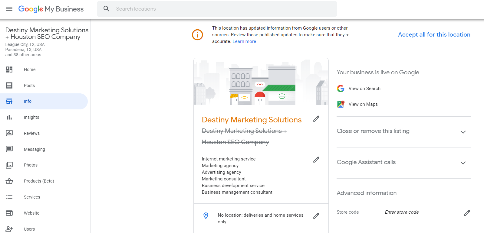 picture paints a thousand words for your google my business destiny marketing solutions