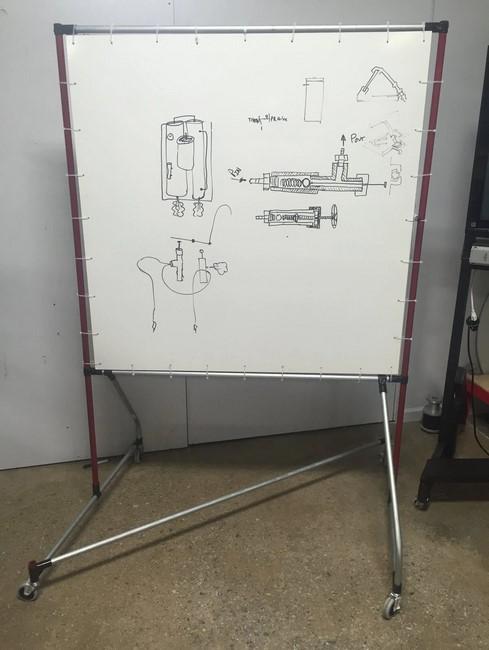 Custom Whiteboard on wheels