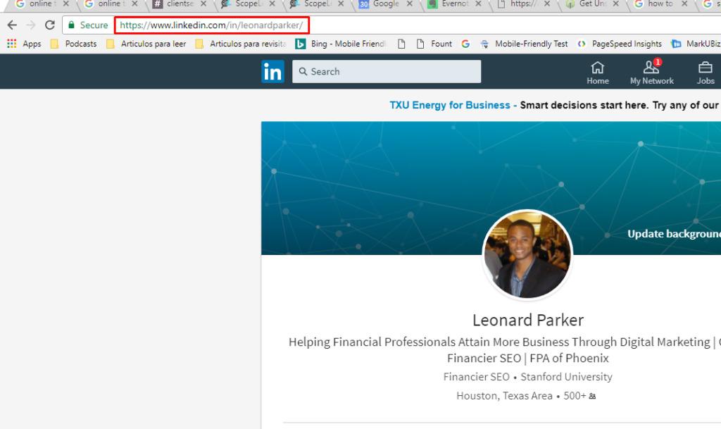 optimize your linkedIn profile's url destiny marketing solutions